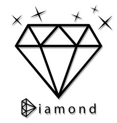 Diamond as a silhouette vector image