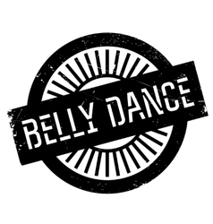 Famous dance style belly dance stamp vector image
