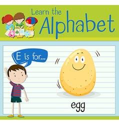 Flashcard letter E is for egg vector image