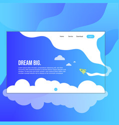 Full header for website landing page with cloud vector
