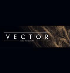 gold swirls background elegant vibrant line vector image