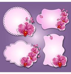 Greening cards vector image