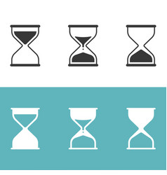 hourglass icon set silhouette icon vector image