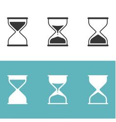 Hourglass icon set silhouette icon vector