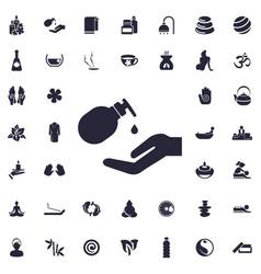 Liqud soap icon vector