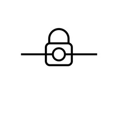 locked connection icon vector image