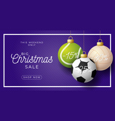 luxury merry christmas horizontal banner vector image