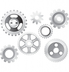 Machine gear wheel vector