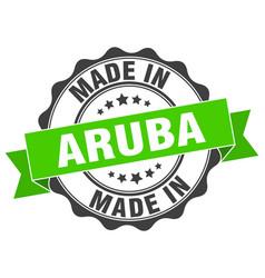 Made in aruba round seal vector