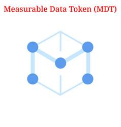 Measurable data token mdt logo vector