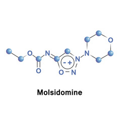 molsidomine is a long acting vasodilating drug vector image vector image