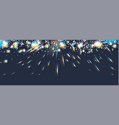 neon christmas garland with optical prism flare vector image