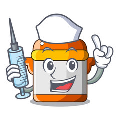 Nurse cartoon rice electric cooker in kitchen vector