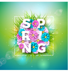 on a spring nature theme with vector image