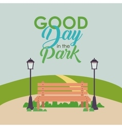 Park landcape summer and spring design vector