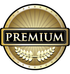 premium gold icon vector image