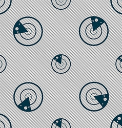 radar icon sign Seamless pattern with geometric vector image