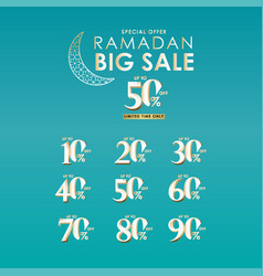 Ramadan big sale special offer limited time only vector