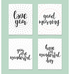 Realistic postcard Love you Good morning You are vector image
