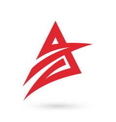 red letter a modern logo icon vector image