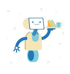 Robot service artificial intelligence concept ai vector