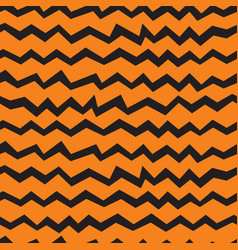 Seamless halloween chevron orange pattern vector