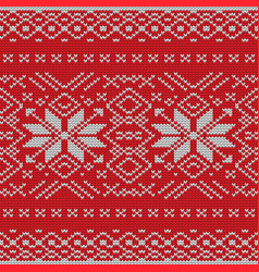 seamless knitting pattern eps 10 vector image