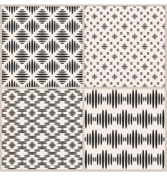 set four geometric seamless patterns vector image