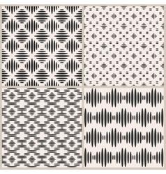 set four geometric seamless patterns vector image
