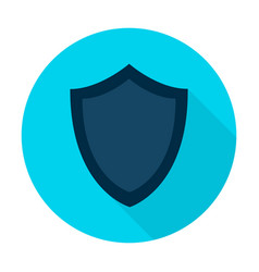 Shield flat circle icon vector