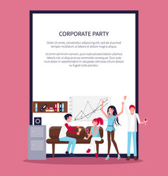 smiling people in office wine vector image