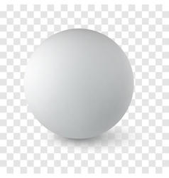 sphere on transparency background vector image