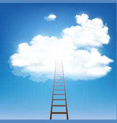 stairway rises to clouds vector image