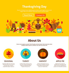 Thanksgiving day website design vector