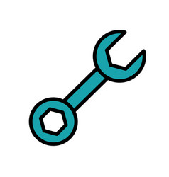 tool repair service isolated icon vector image
