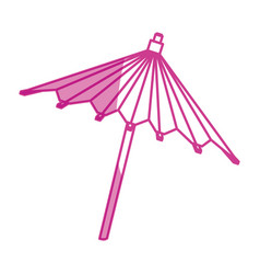 Umbrella cocktail decoration vector