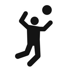 Volleyball player atack icon simple style vector