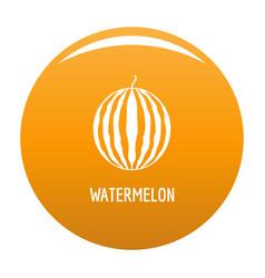 watermelon icon orange vector image