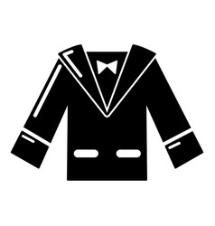 Wedding groom suit icon simple style vector