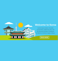 welcome to korea banner horizontal concept vector image
