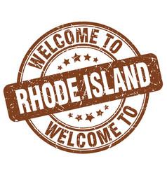 Welcome to rhode island vector