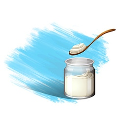 Yoghurt or cream with brush stroke vector