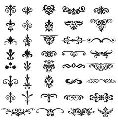 calligraphic retro elements and page decoration vi vector image