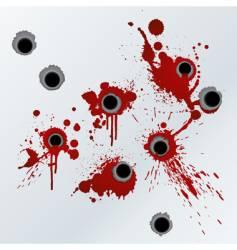 Gunshot blood background vector