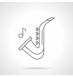 Jazz music flat line icon vector image vector image