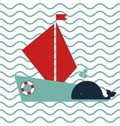 Maritime card vector image