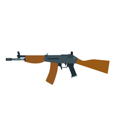 rifle assault gun machine weapon automatic vector image