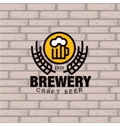 Brewery Logo vector image vector image