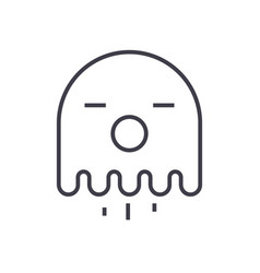 ghost line icon sign on vector image