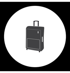 simple travelling case isolated gray icon eps10 vector image vector image